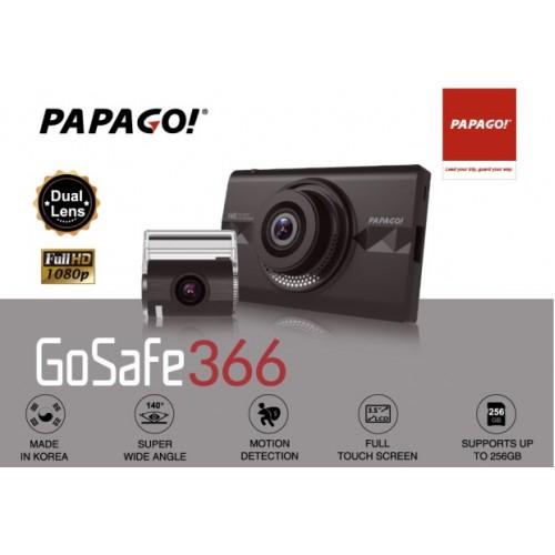 Papago GoSafe S366 雙鏡頭行車記錄器