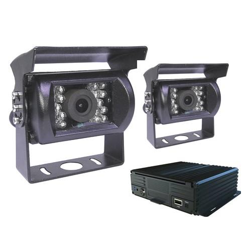 貨車專用行車記錄器組合 前後雙鏡大容量錄影 即時遠端監控