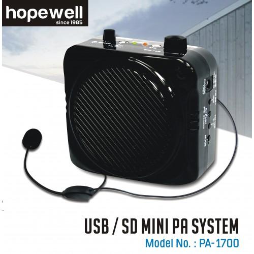 Hopewell USB / SD 掛腰式擴音機 PA-1700